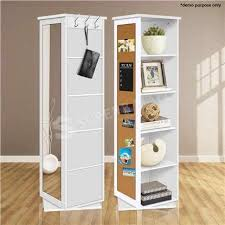 rotating storage cabinet with mirror 5 cube rotating swivel storage cabinet shelving shelf mirror