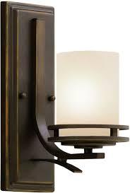 Mission Style Wall Sconce Kichler 5076ni Brushed Nickel Hendrik Single Light 12