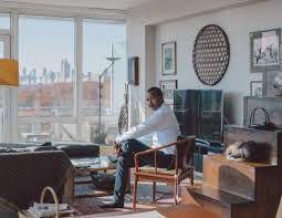 room in a house a tour of bill whitaker u0027s high rise living room in harlem the