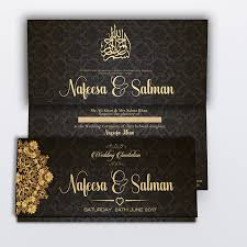 islamic wedding card black royal muslim wedding card diamond wedding cards
