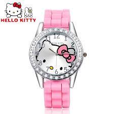 kitty kids watch rhinestone cartoon watch children u0027s watches