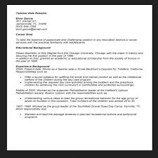 Resume Examples For Teacher Assistant by Resume Teacher Aide Resume