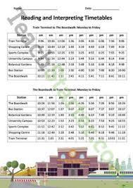 reading timetables lesson plan u2013 teach starter