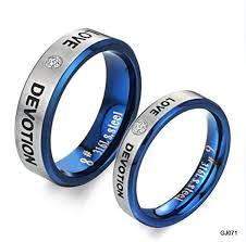 blue titanium wedding band wedding bands black titanium wedding bands