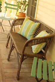 Spray Paint Wicker Patio Furniture - between blue and yellow spray painted wicker