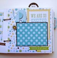 baby boy scrapbook album scrapbook mini album baby boy premade personalized boys baby
