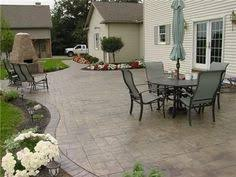 Backyard Stamped Concrete Patio Ideas Stamped Concrete Patio Looks Like Large Pavers Home