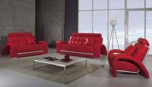 Contemporary Living Room Sets Home Design Red Microfiber Convertible Living Room Set Vegas