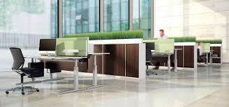 Schreibtisch Kufen Schreibtisch Für Open Space Holzfurnier Metall Hpl Change