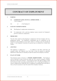 Sample Contract Letter Employment Contract Sample Employment Contract Letter Sample For
