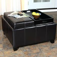 storage ottoman reversible top storage ottoman with reversible tray top leather espresso tray top