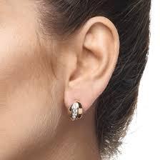 huggie earrings russian sparkle trio huggie earrings