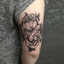 Tattoos For Triceps Dotwork Lotus Tricep Lotus And Tatoo