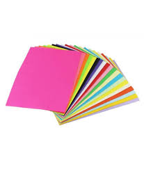 Ziggle A4 Color Paper For Photocopy Art Craft Printing 80 Gsm 10 Color Paper