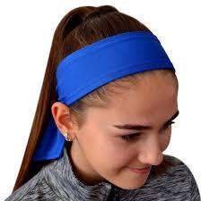 sport headbands solid tie back moisture wicking sport headbands quantity