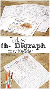 silly thanksgiving practice digraphs with this simple turkey digraph easy reader