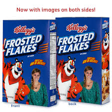 frosted flakes photo on a box kelloggstore