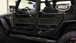 jeep wrangler unlimited half doors aries jeep wrangler tube doors ar15009 25009 youtube
