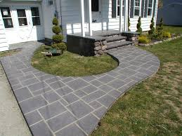 stamped concrete patios photo backyard fire pit pergola