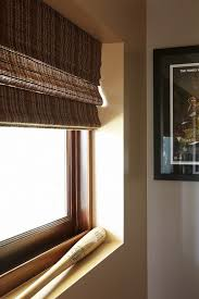 Man Cave Bathrooms Cordless Roman Shades In Spaces Los Angeles With Bamboo Shades