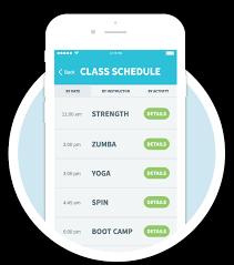 app design class mobile class schedules for fitness centers netpulse