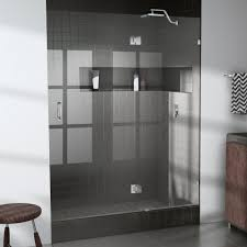 34 Shower Door Glass Warehouse 34 In X 78 In Frameless Glass Hinged Shower Door