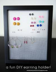 organize stud earrings the sweetest petunia organize your earrings a diy project so