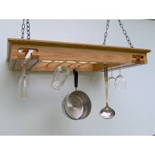 kitchen style wood pot racks wayfair hanging pot rack favorite