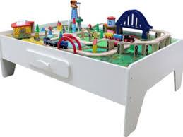 melissa doug activity table plum wooden train set and track table plum train track activity