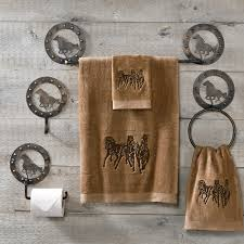 western horse metal bath hardware equestrian bathroom decor tsc
