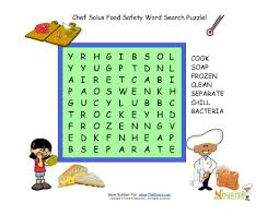 food safety word search puzzle for kids 7 words