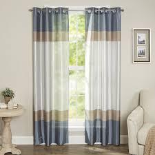 Grommet Curtains Alcott Hill Homewood Striped Semi Sheer Grommet Curtain Panels