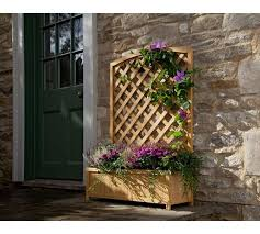 buy lattice wooden planter large at argos co uk your online