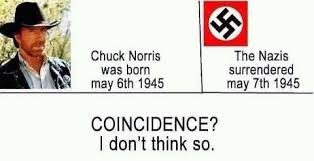 Chuck Norris Birthday Meme - rumor chuck norris and the nazi surrender