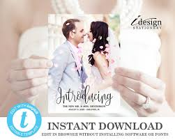 wedding announcement cards wedding announcement cards printable template editable