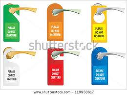 Do Not Disturb Desk Sign Hotel Do Not Disturb Door Hanger Stock Vector 162901247 Shutterstock