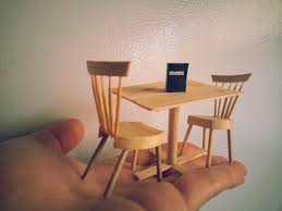 How To Make Dining Room Chairs by Diy Miniature Dining Table And Chairs Youtube