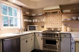 Cement Tile Backsplash Contemporary  Cabinet Hardware Room - Cement tile backsplash