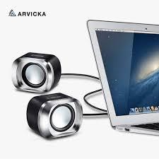 haut parleur pour ordinateur de bureau arvicka fil mini pc haut parleurs musique usb 2 0 stéréo portable