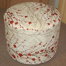 How To Make An Upholstered Ottoman by Make A Round Upholstered Ottoman With Pictures