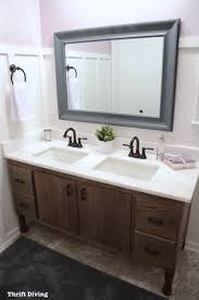 do it yourself bathroom vanity how to build a 60 diy bathroom vanity from scratch