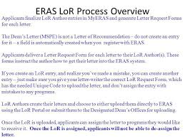 eras cover letter eras electronic residency application service