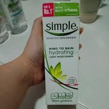 simple hydrating light moisturizer simple hydrating light moisturiser health beauty skin bath