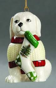 spode tree ornament puppy with