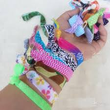 elastic ribbon wholesale 2018 rainbow ribbon fold elastic hair ties bracelet elastic