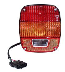 european jeep wrangler crown automotive j5764204 european tail light for 87 95 jeep
