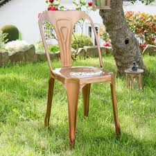 Copper Bistro Chair Retro 1930 S Style Copper Vintage Bistro Dining Chair