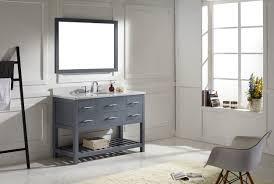 48 In Double Vanity Virtu Usa Caroline Estate 48 Single Bathroom Vanity Set In Grey