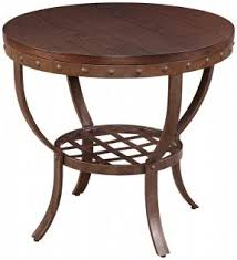 Wood Round End Table Metal Round End Table Foter