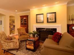 Condo Living Interior Design by Warm Nuance Interior Living Room Design With Nice Warm Lighting